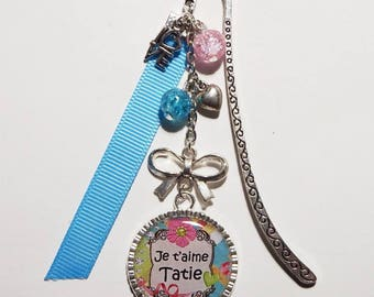 "Bookmark AUNTY/AUNTIE ""I love Auntie"" / gift / personalized"