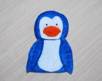 felt finger puppet animals pinguin