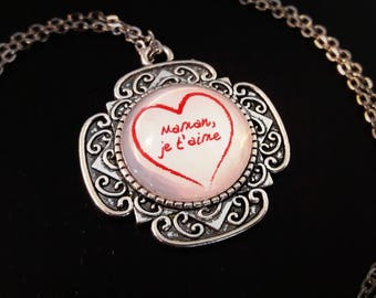 I love you MOM necklace, mother's day