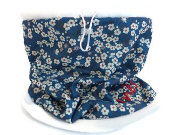 Blue custom soft snood - Liberty mitsi Choker