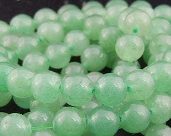 pale green Aventurine 8mm 10 beads