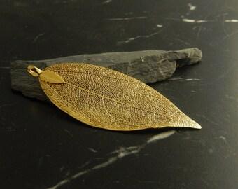 1 gold leaf charm pendant