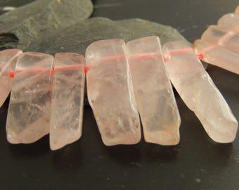 5 pendants natural Rose Quartz