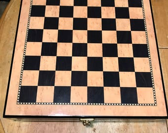 Skeleton Slayer Chess Set with Cherry Wood Storage Box (GENTLY USED)