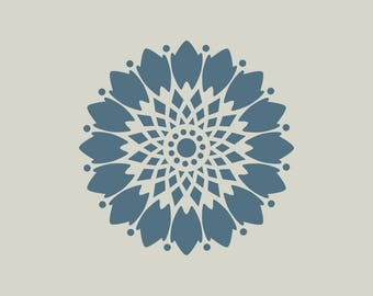 Flower stencil. Floral stencil (ref 447)
