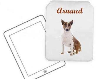 Cover for tablet pc Bull terrier personalized with name