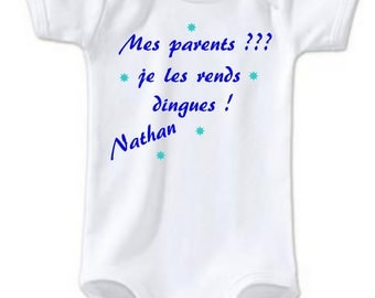 Bodysuit my parents I make them... personalized with name