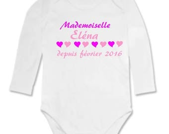 Bodysuit Mademoiselle... personalized with name