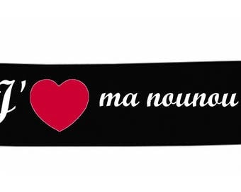Headbands black message baby I love my nanny