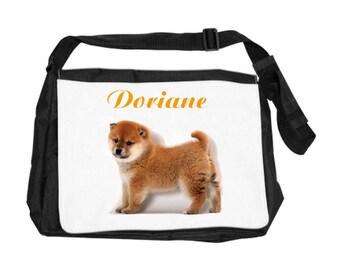 Akita bag personalized with name