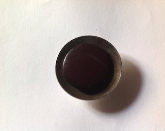 Large vintage bakelite and metal button