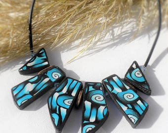 the blue time spiral necklace