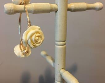 Cream Rose Bangle
