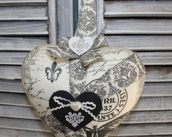 Polystyrene decorated hanging heart