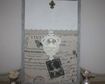 Distressed antique frame and the Monogram