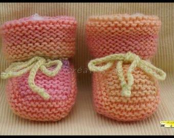 Multicolor knit baby Bootie