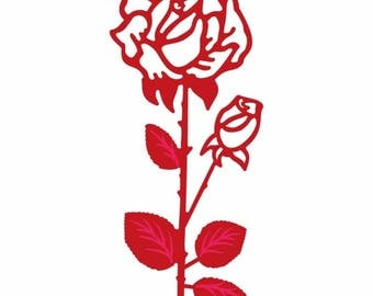 Cut out roses scrapbooking