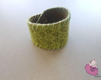BRACELET GREEN LEATHER - GREEN COLLECTION 7 06