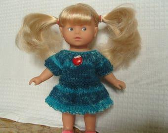 Corolla corolline, mottled blue wool mini dress