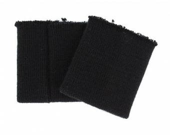 Wrists knitted black heavy quality sold by 2