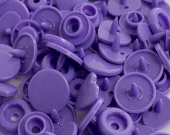 Purple Heart 10 snaps size 12.4 mm