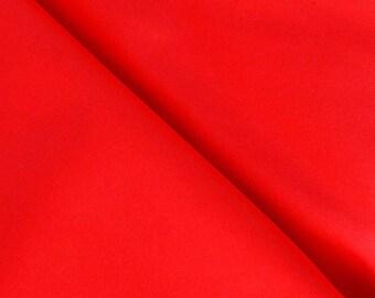 Plain bright red 100% cotton fabric