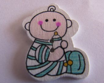 wooden baby 31mmx22mm various colors to choose