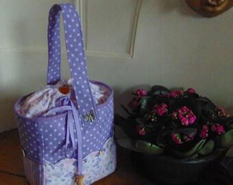 Matching fabric knitting bag