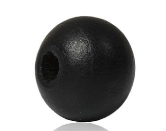 10 pearls 8 mm hole 2.5 mm cypress wood