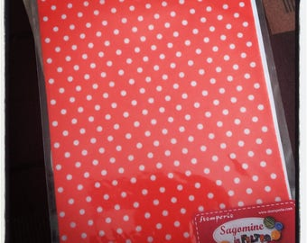 Red felt with white 14.8x21cm ppis