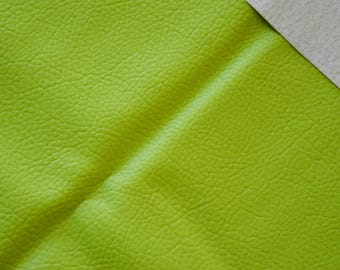 Fabric faux leather Green Apple 45 * 50cms