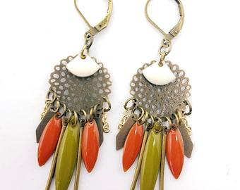 Earrings fall colors