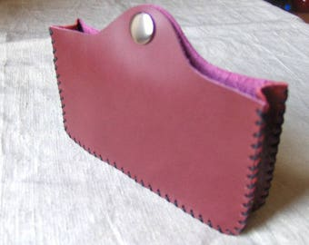 Red Handmade Leather phone case