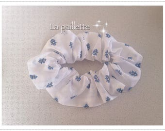 White and blue cotton Provencal hair band