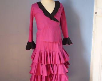 Flamenco ruffled skirt and wrap set