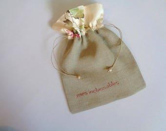 Tote bag pouch linen