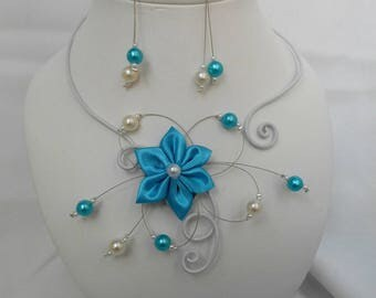 BELLA flower set with necklace and earrings