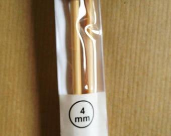 Needles N ° 4 bamboo 35CM