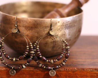 Ethnic earrings wood