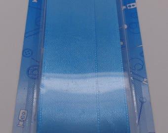3 meters width 25mm sky blue satin ribbon
