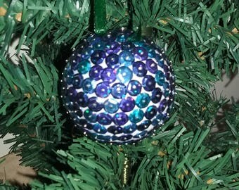 Meli Melo Blue Christmas sequins - ball