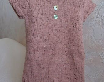 Pink dress 3 years wool and alpaca