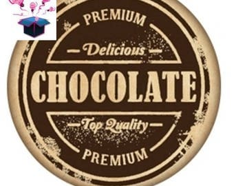 1 cabochon clear 25 mm chocolate theme
