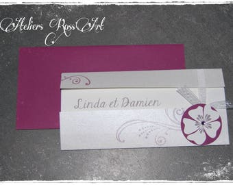 chic wedding invitation and elegant arabesque Orchid