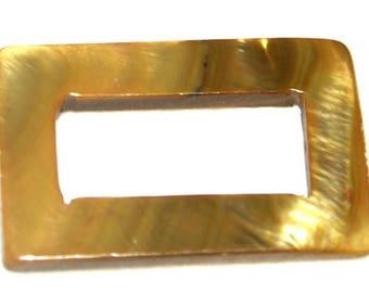 Set of 4 25X15mm khaki Brown pearl beads