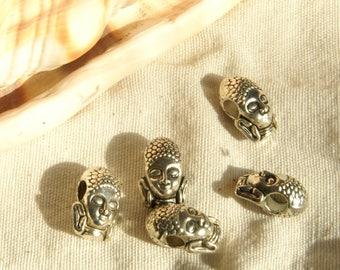 Buddha beads x 5 Europeennesthailandais in Tibetan silver 10 X 0, 7 mm
