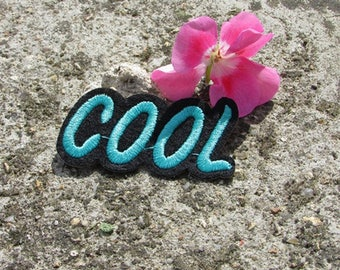 """Patch fusible """"cool"""" embroidered patch applique"""