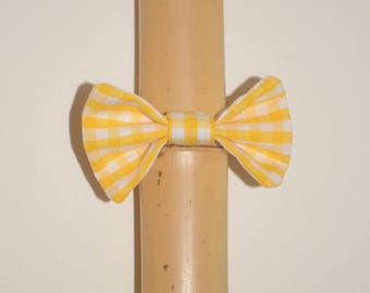 Elastic with yellow gingham hair bow
