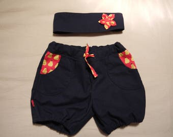 Shorts with matching headband
