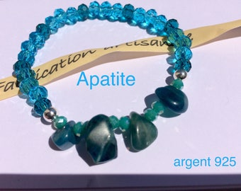 Apatite bracelet and 925 sterling silver